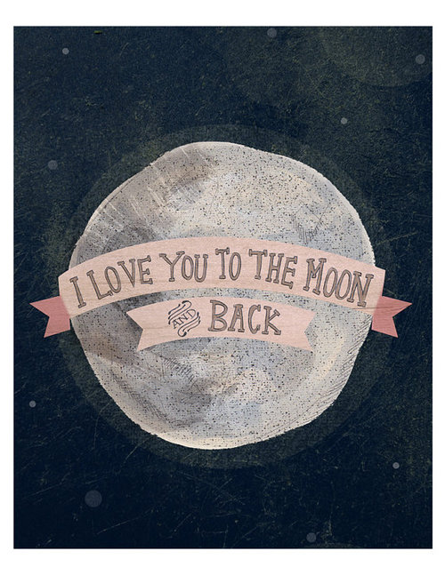 I love you to the moon 8x10 print by yellowbuttonstudio on Etsy