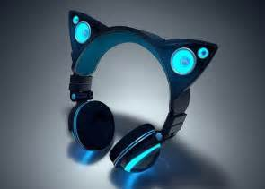 headphones, cat, and blue image