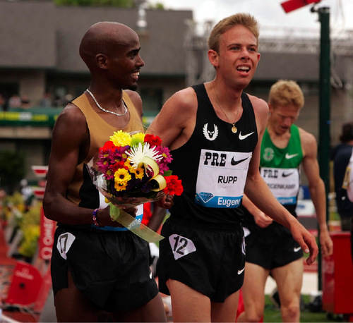 Mo Farah, Galen Rupp wage spirited battle at Prefontaine Classic