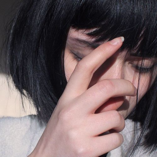 black, pale, and hair image