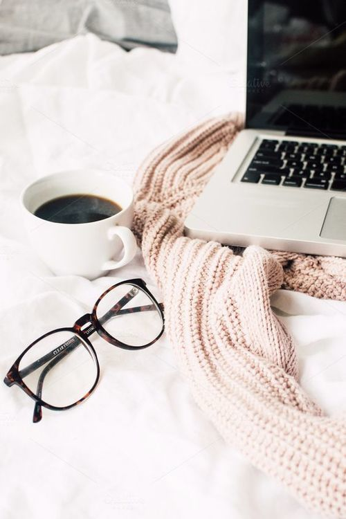 coffee, glasses, and laptop image