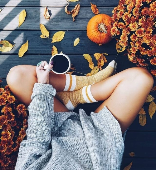 autumn, fall, and coffee image
