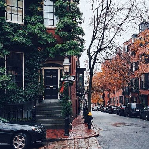autumn, street, and city image
