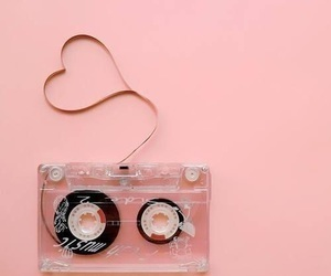 pink, love, and music image
