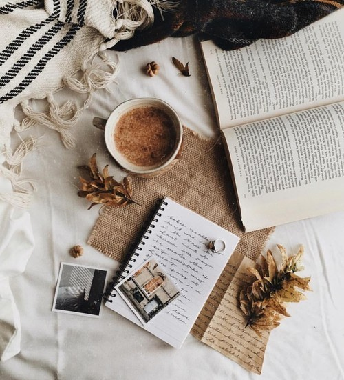 coffee, autumn, and books image