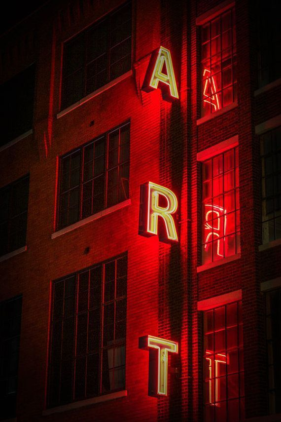 art, neon, and red image