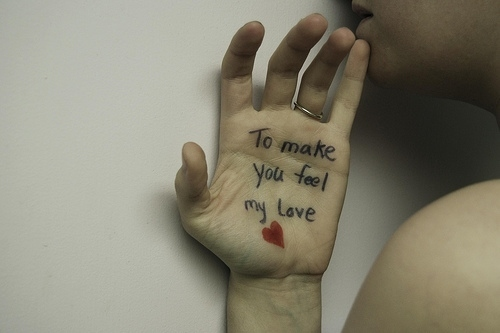hand, heart, love, message, skin, text - inspiring picture on Favim.com