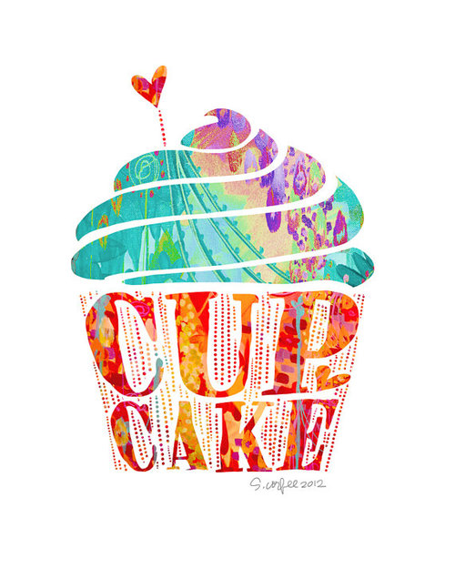 CUPCAKE print by stephaniecorfee on Etsy