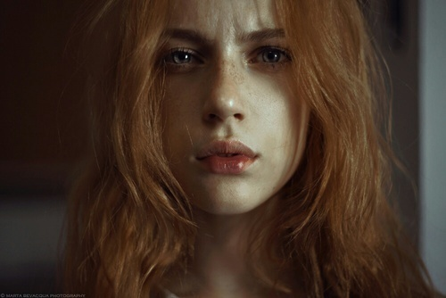 girl, redhead, and eyes image