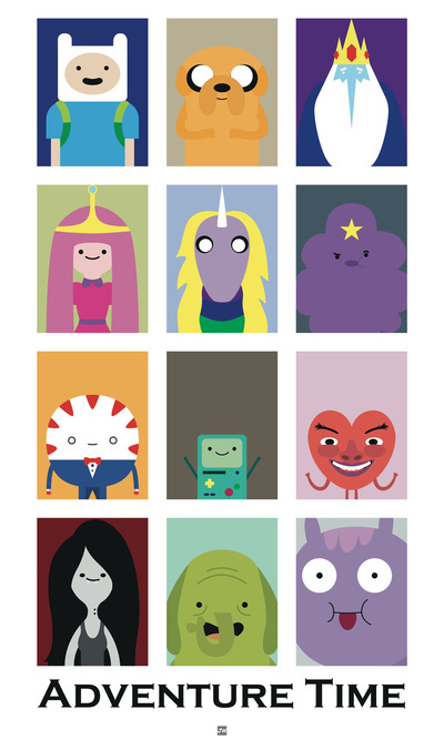 Minimalist Adventure Time Poster Art Print by Jeremy Wojchihosky | Society6