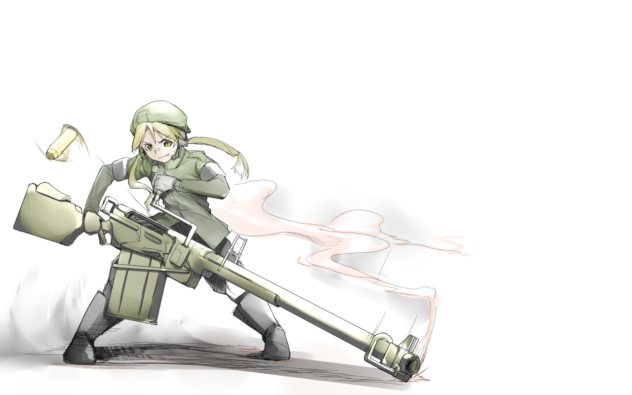 1280 x 800 wallpapers wallpaper 7139 1 other anime guns - Anime girl with weapon ...