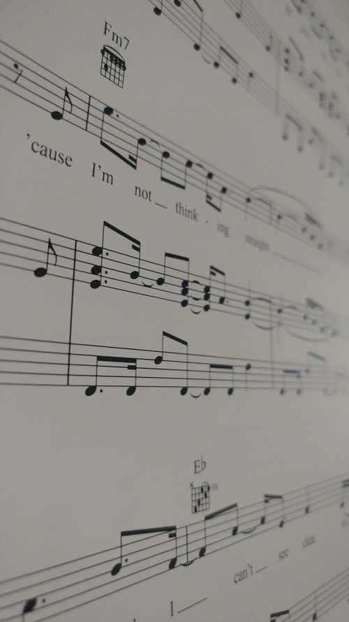article and music image