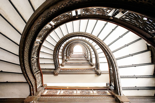 stairs, architecture, and interior image