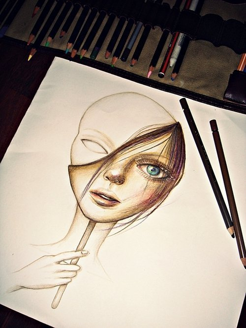 drawing, photo, picture, pretty - inspiring picture on Favim.com