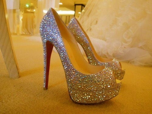 Open toe louboutins