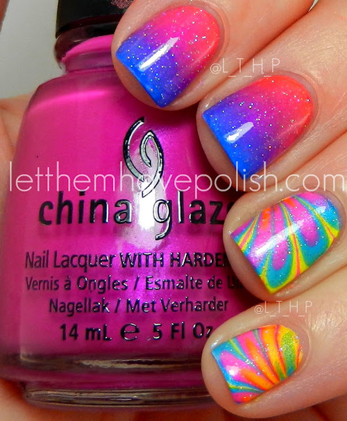 Let them have Polish!: China Glaze Summer Neons Weekend Mani