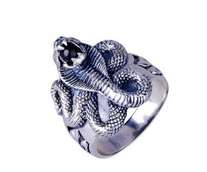 cobra thai silver ring
