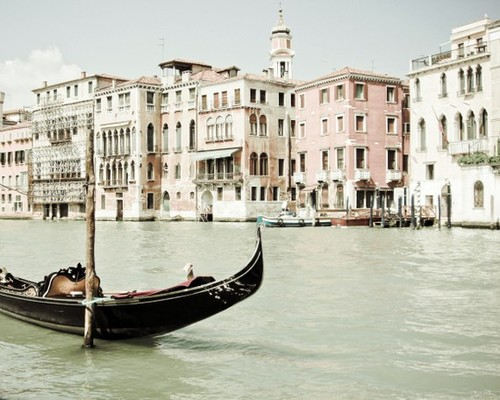 Venice Photography Black boat Enchanting Venice by honeytree