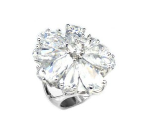 petal crystal ring