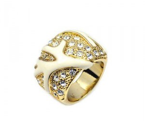 golden coral ring