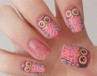 Fave Fashion,Enjoy Fashion (yiwuproducts: Cute owl nails,creative)