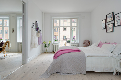 Tumblr Slaapkamer : White and Pink Bedroom Room Interior