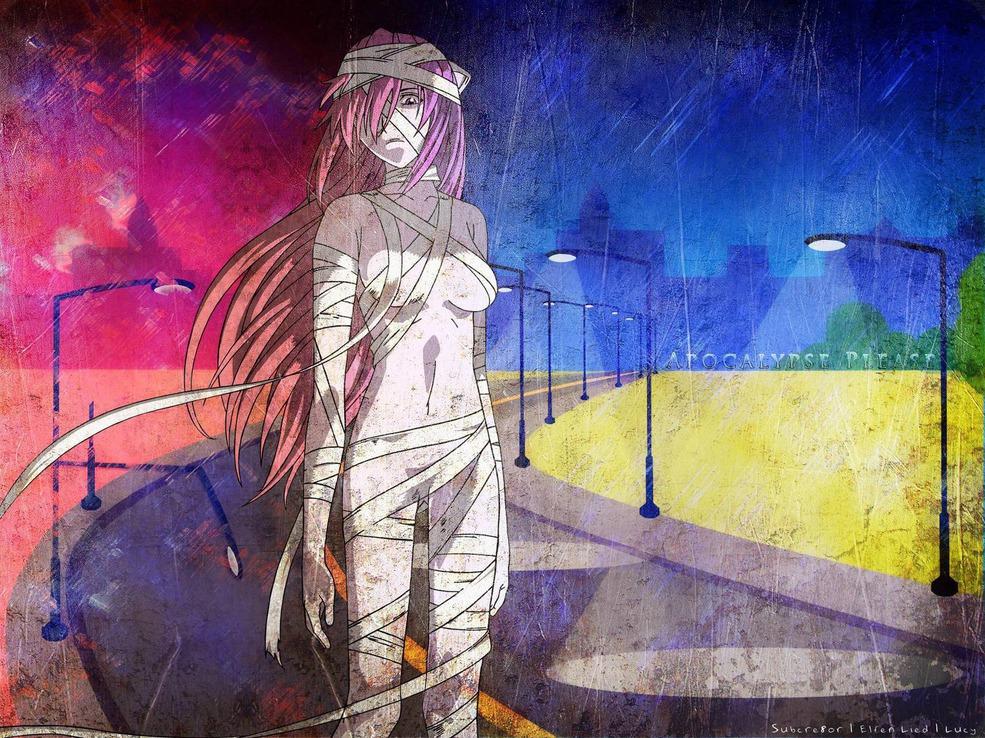 apocalypse please  elfen lied wallpapers  anime
