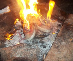 my shoes are burning