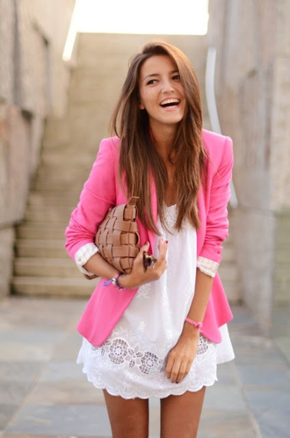 Pink Boyfriend Blazer on large Shoe Daydreams: Zara Is Winning My Heart