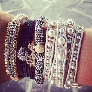 .access♥ries. / love the stack of bracelets