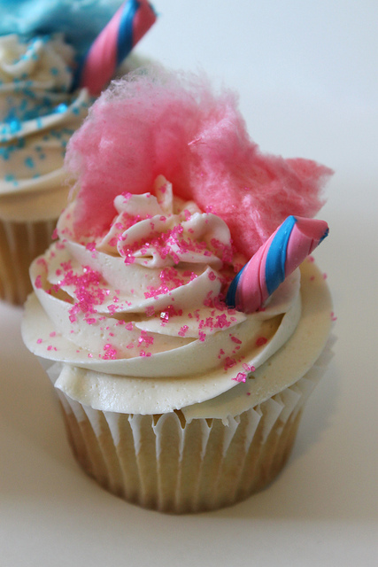 Cotton Candy Cupcake | Flickr - Photo Sharing!