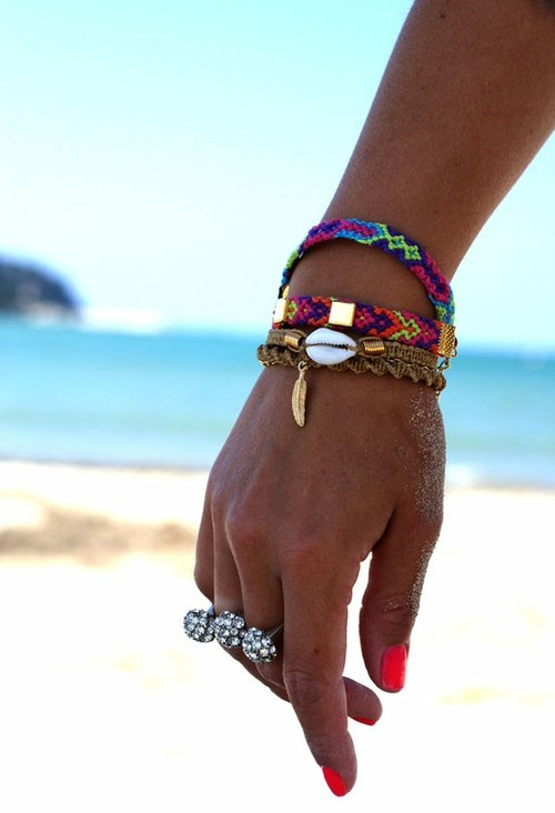 Jewelry / neon friendship bracelets