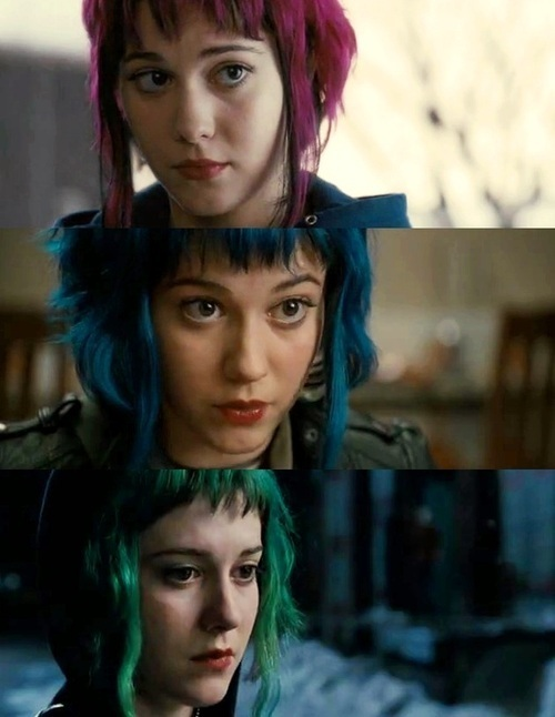 sarcastic psycho nerd comedy, Todas as cores da Ramona Flowers.