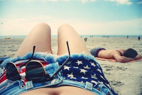 america, beach, blue, fun, girl - inspiring picture on Favim.com