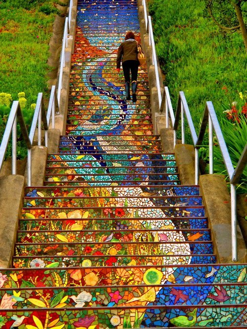The Secret Mosaic Staircase in San Francisco - My Modern Metropolis