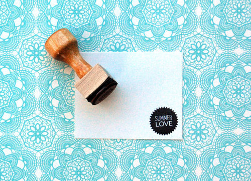 Summer Love Rubber Stamp by annmarielovespaper on Etsy