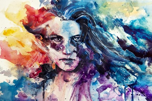 Intense-emotional-rainbow-color-painting-gay-rights-woman-girl-watercolor-portrait-painting-art-643x428_large