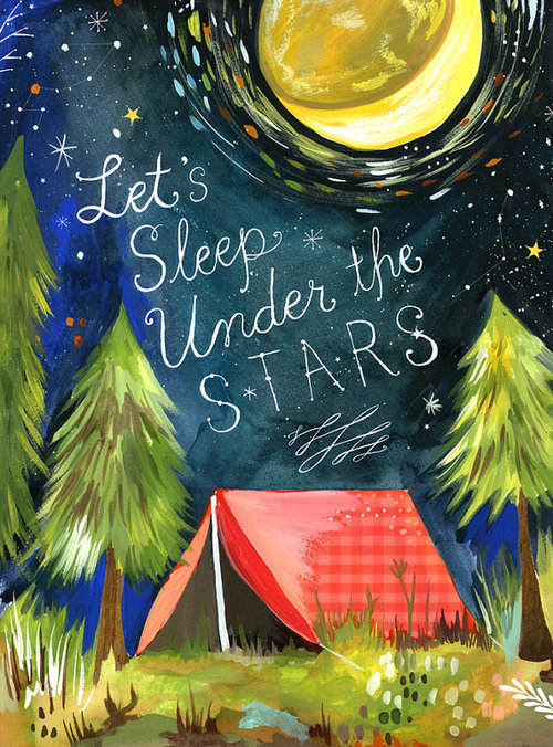 Sleep Under The Stars by thewheatfield on Etsy