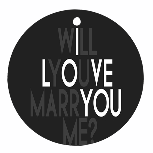 Will you marry me Round Ornament Round Ornament (two sides)