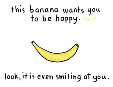 Happy-banana-art-drawing-quote-text-smile-favim.com-461249_large