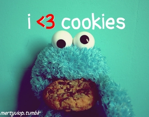 blue, cookies, cute, moster cookies - inspiring picture on Favim.com