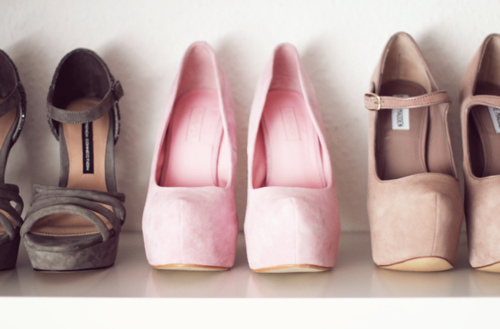 shoes, pink - inspiring picture on Favim.com