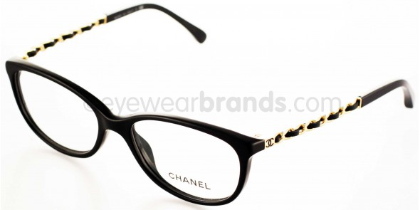 Glasses Frames Black And Gold : Chanel CH3221Q C622 BLACK/GOLD Chanel Glasses Chanel ...