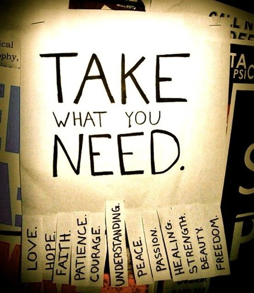 Things I Love / Take what you need.
