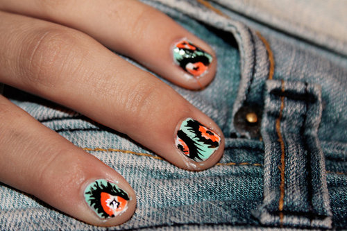 feather nails by ~fakkker on deviantART