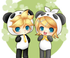 Group Of Chibi Panda Boy