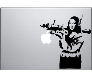 banksy macbook decal