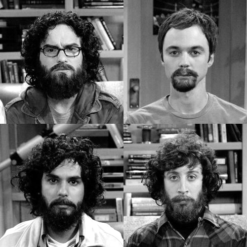 beard, black and white, howard wolowitz, leonard hofstadter, raj koothrappali - inspiring picture on Favim.com