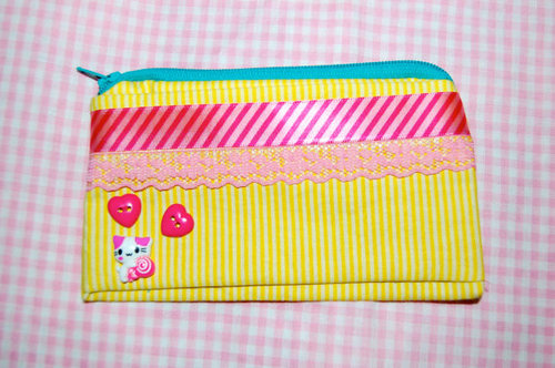 coin purse kitty cat by chippednailpolish on Etsy