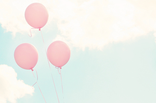 Balloons,Sky,Pink,Light blue - inspiring picture on PicShip.com